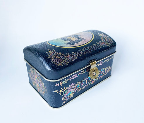 Vintage-Style Singer Sewing Tin - Small