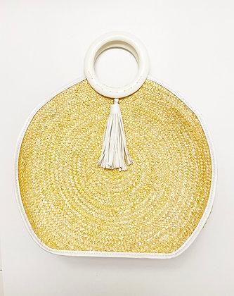 Vintage Gold Basket Purse with Tassel