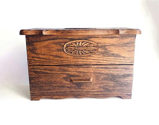 Faux Wood Jewelry Storage Box