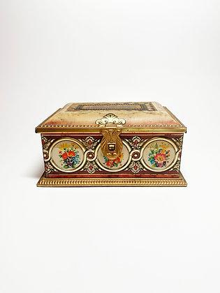 Vintage Jewelry Box Trinket Tin