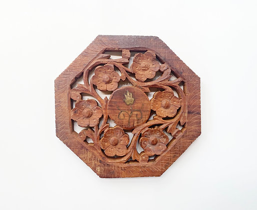 Wooden Floral Mandala Trivet