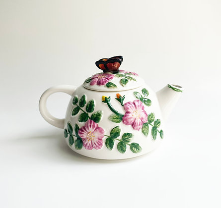 Butterfly Floral Teapot