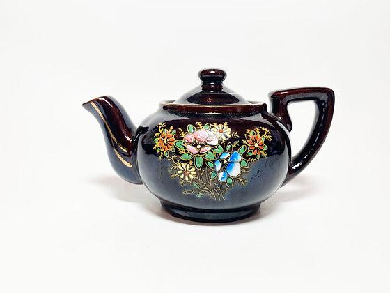 Vintage Painted Floral Teapot