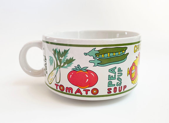 Vintage Vegetable Soup Mug