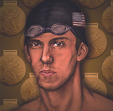 Michael Phelps Illustration