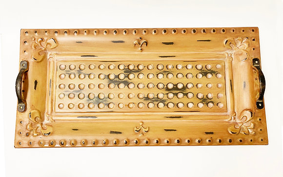 Distressed Metal Serving Tray