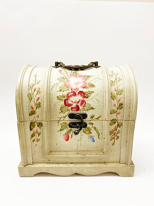Bohemian Rose Painted Wooden Jewelry Box