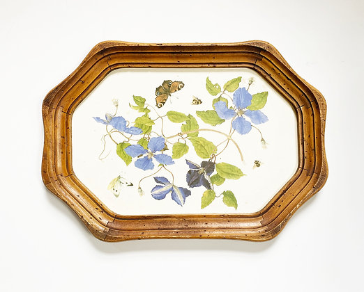 Botanical Butterfly Wooden Tray