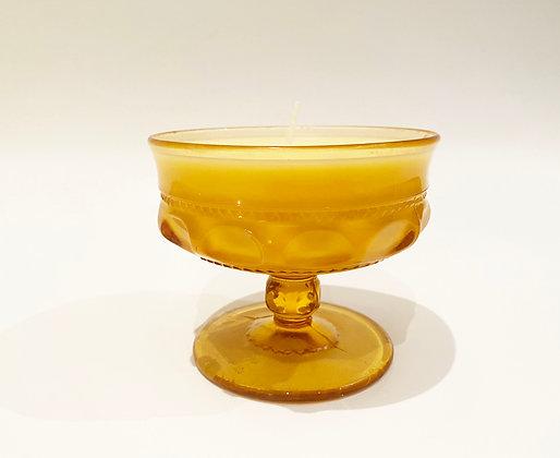 Vintage Gold Handmade Natural Soy Wax Candle - Tangerine + Orange