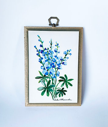 Arla Alexander Art Plaque - Blue Floral
