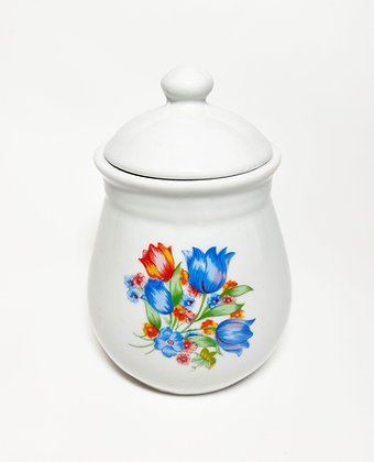 Floral Ceramic Storage Jar