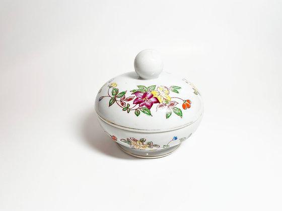 Floral Ceramic Trinket Jar