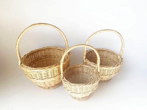 Mini Woven Baskets - Set of 3