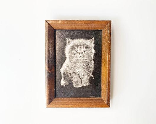 Vintage Kitten Framed Art