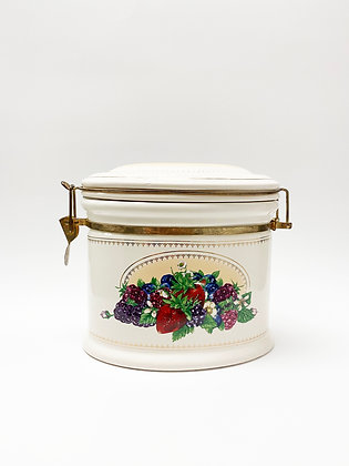 Berries Ceramic Canister with Latch Lid