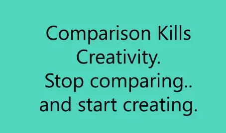 It's NOT Fair....STOP the Compare!