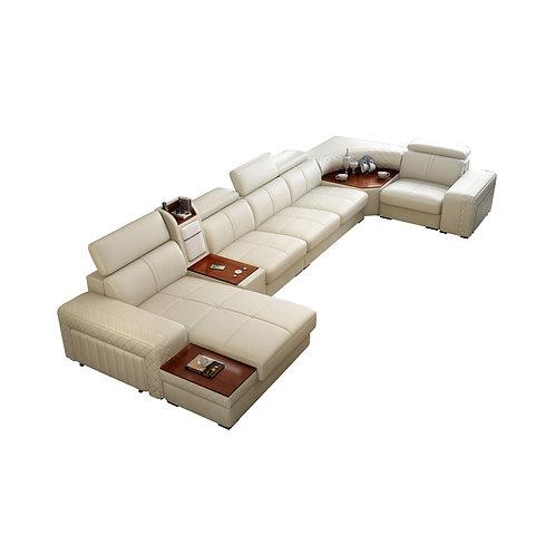 Designer Leather Living Room Sofa