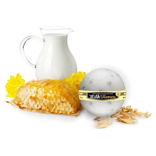 Oatmeal, Milk & Honey CBD Bath Bombs