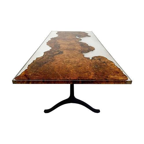 Maple Burl Resin Table