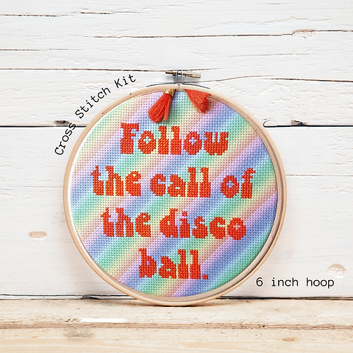 KIT Disco Ball Cross Stitch