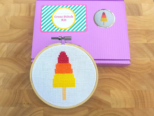 Rocket Lolly Cross Stitch Kit