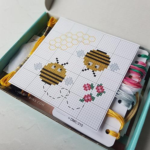Bees Cross Stitch Kit