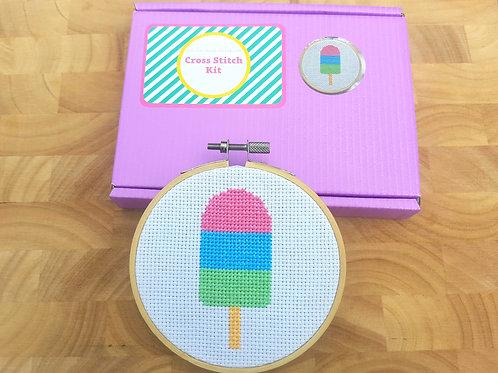 Ice Lolly Cross Stitch Kit