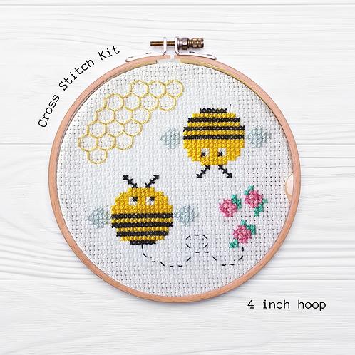 KIT Bees Cross Stitch