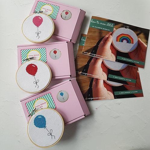 Balloon cross stitch kit