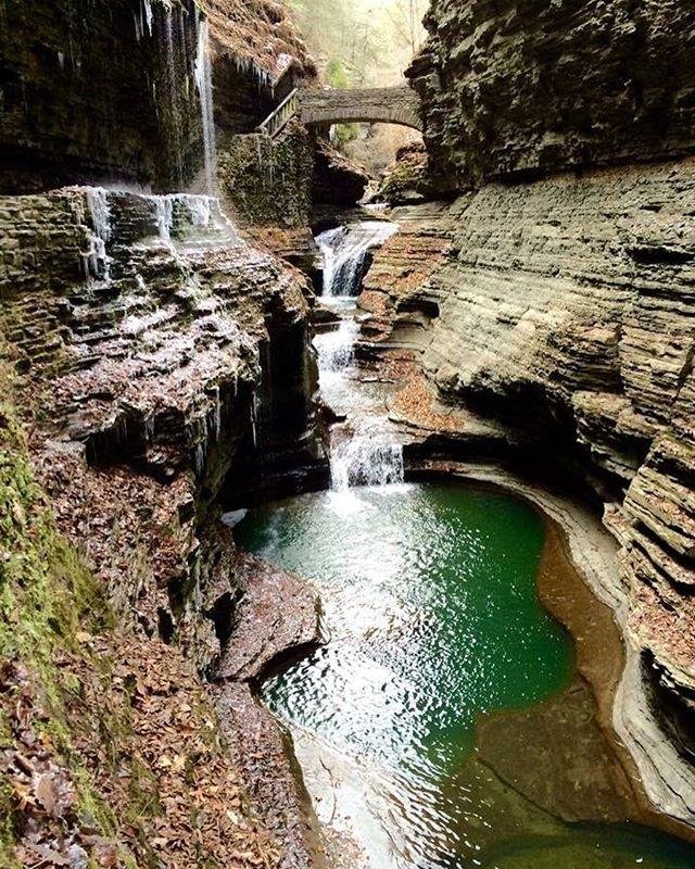 Watkins Glen State Park in New York,