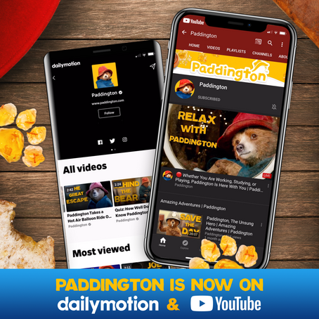 STUDIOCANAL AND COPYRIGHTS GROUP LAUNCH GLOBAL PADDINGTON BEAR DAILYMOTION AND YOUTUBE CHANNELS