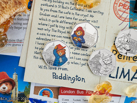 THE ROYAL MINT CONTINUES TO CAPTURE PADDINGTON LONDON ADVENTURES WITH TWO NEW COINS