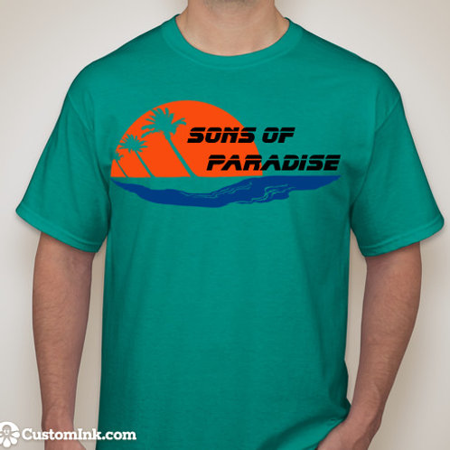 Sons of Paradise Teal Shirt
