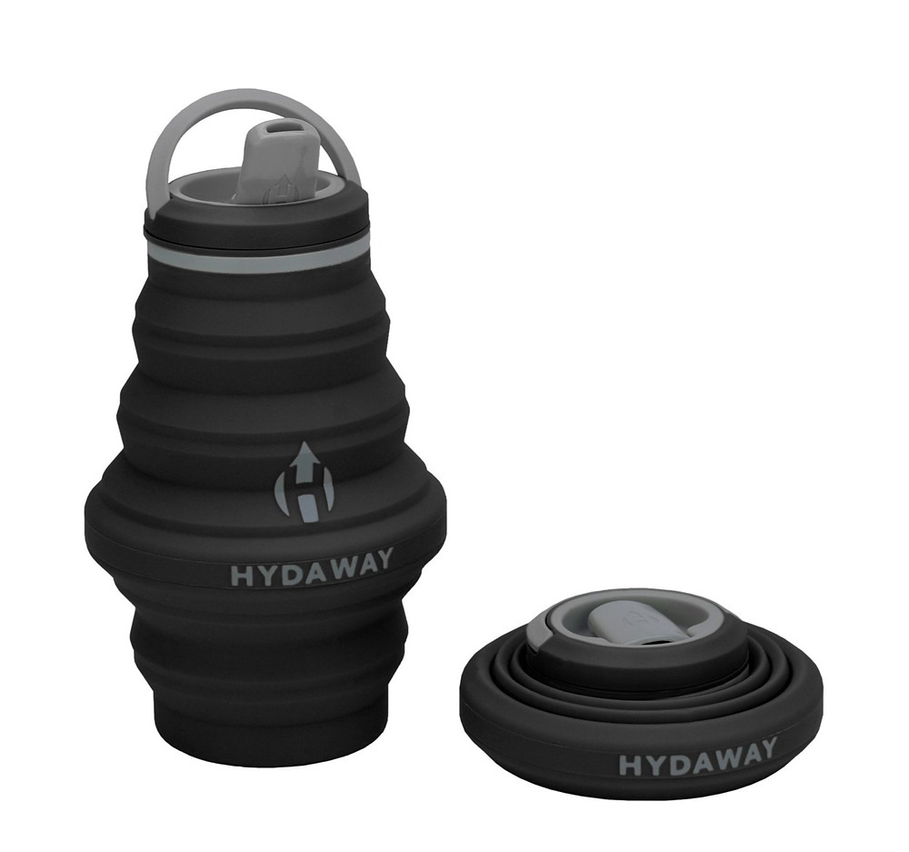 The collapsible, ultra-stashable, planet-friendly, go-anywhere way to stay hydrated. Its sleek design collapses down to a ridiculously small 1.5″disc. When expanded, it holds a thirst-quenching 17oz of water.