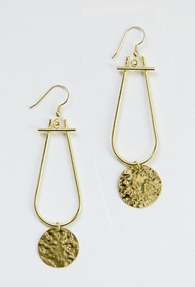 Sun Drop Gold Earrings