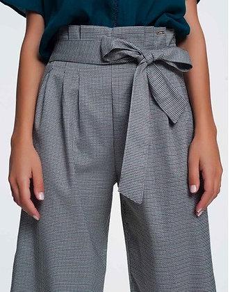 Waist Tie Front Gingham Pants