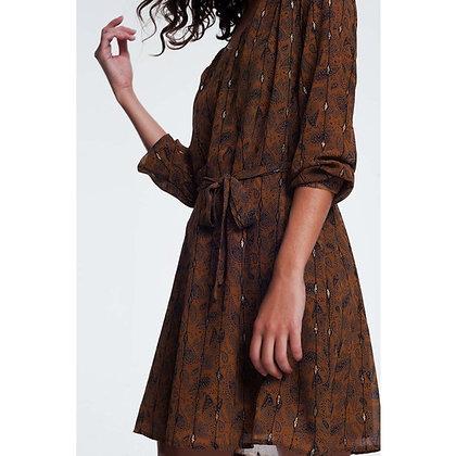 Jacquard Print Dress