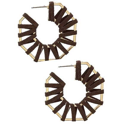 Chocolate Suede Hoops