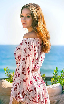Hibiscus Off the Shoulder Dress