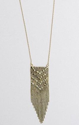 Metalwork Gold Necklace
