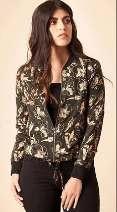 Hibiscus Flower Bomber Jacket