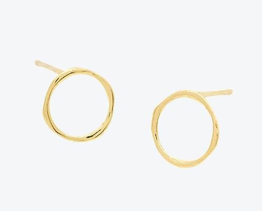 Open Gold Circle Studs
