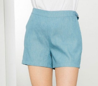 Denim Buckle Shorts