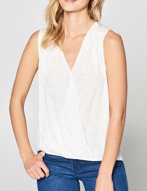 White Lightweight Surplice Top