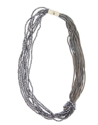 Short Knotted Chain Necklace