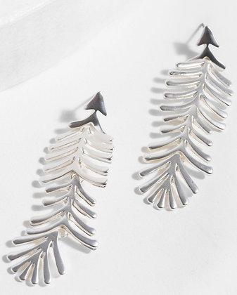 Linear Leaf Earrings