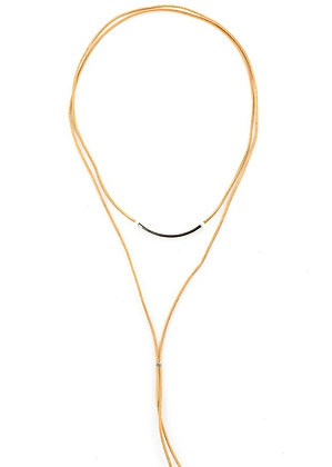 Desert Leather String Necklace