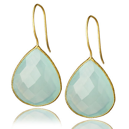 Single Drop Genuine Gemstone Earrings