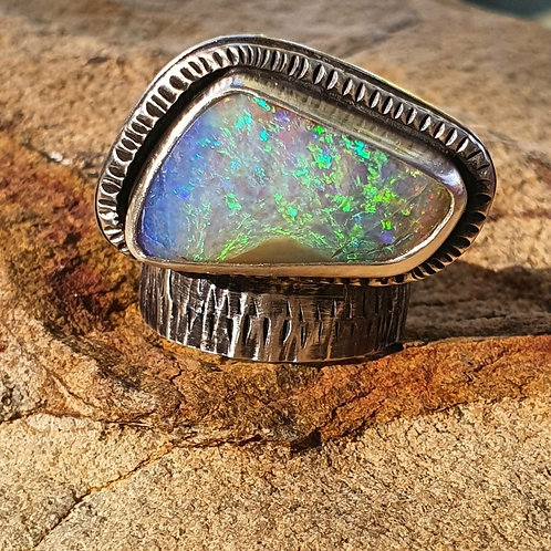 PAINTED EARTH RING - Float