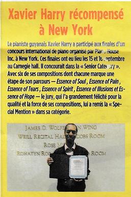 Xavier Harry dans le journal France Guyane